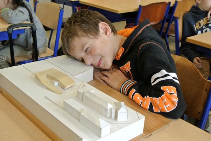 Architect in de klas